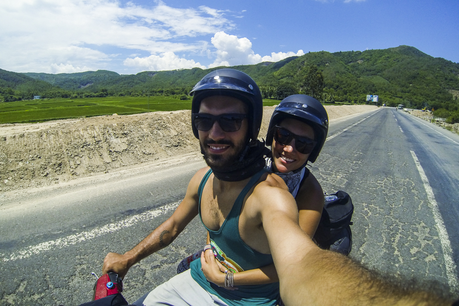 Rididng a motorcycle in Vietnam | Adventure of Two Travel Blog