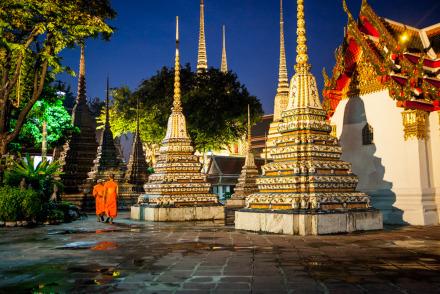 Monks in Bangkok Thailand
