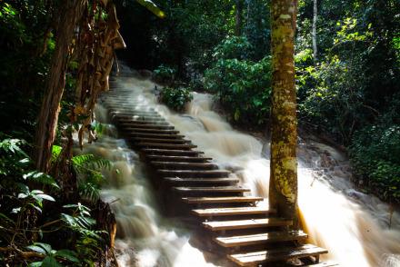 Luang Prabang Laos Waterfall