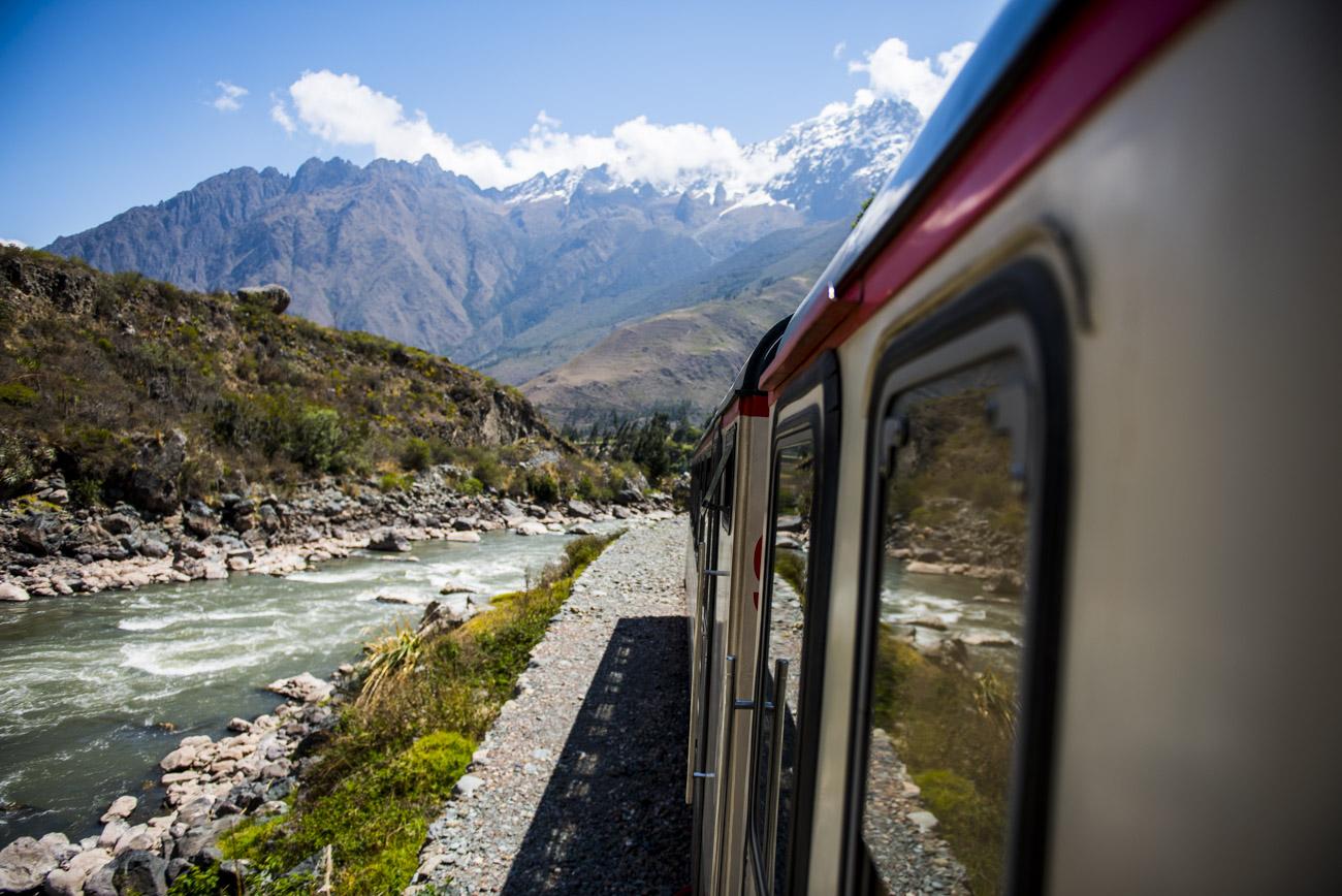 Train from Ollantaytambo to Machu Picchu Peru by Dylan Ozanich